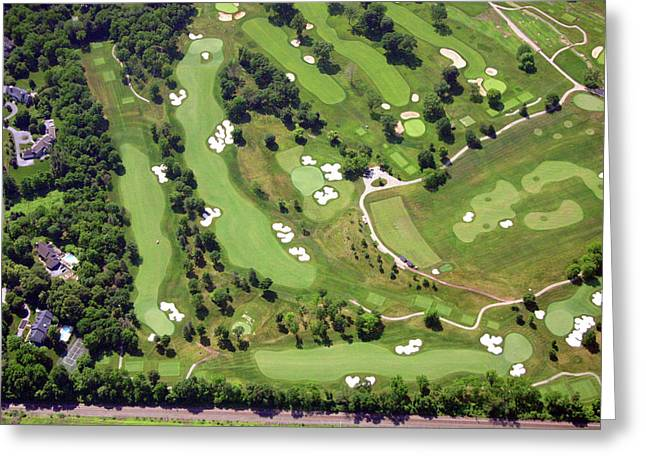 6075 W Valley Green Rd Greeting Cards - Philadelphia Cricket Club Militia Hill Holes 6 7 and 8 Greeting Card by Duncan Pearson