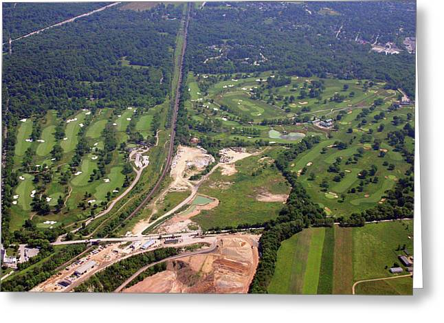 6075 W Valley Green Rd Greeting Cards - Philadelphia Cricket Club Wissahickon and Militi Hill Golf Course Greeting Card by Duncan Pearson