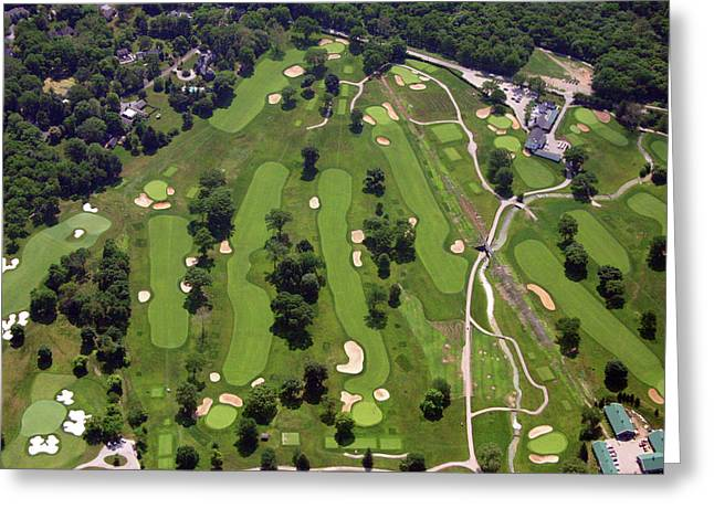 6075 W Valley Green Rd Greeting Cards - Philadelphia Cricket Club Wissahickon Front Nine Greeting Card by Duncan Pearson