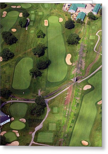 Golf Design Greeting Cards - Philadelphia Cricket Club Wissahickon Golf Course 11th Hole Greeting Card by Duncan Pearson