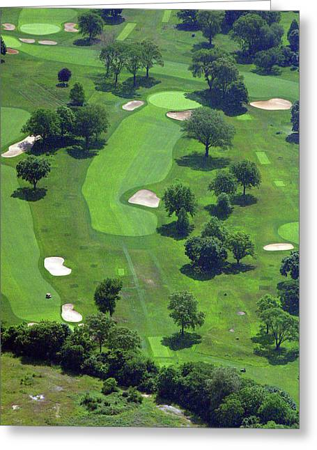 Hole 13 Greeting Cards - Philadelphia Cricket Club Wissahickon Golf Course 13th Hole Greeting Card by Duncan Pearson