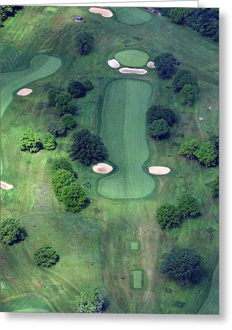Philadelphia Cricket Club Wissahickon Golf Course 14th Hole Greeting Card by Duncan Pearson