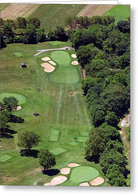 Militia Hill Greeting Cards - Philadelphia Cricket Club Wissahickon Golf Course 15th Hole Greeting Card by Duncan Pearson