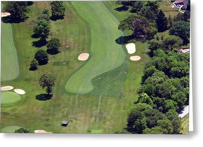 Philadelphia Cricket Club Wissahickon Golf Course 16th Hole Greeting Card by Duncan Pearson