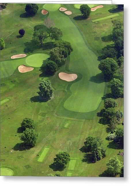 Militia Hill Greeting Cards - Philadelphia Cricket Club Wissahickon Golf Course 17th Hole Greeting Card by Duncan Pearson