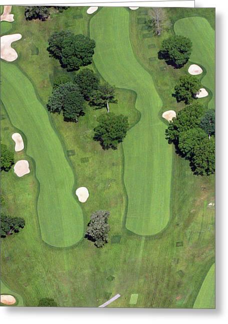 Philadelphia Cricket Club Wissahickon Golf Course 4th Hole Greeting Card by Duncan Pearson