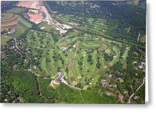 Golf Aerials Greeting Cards - Philadelphia Cricket Club Wissahickon Golf Course Flourtown Greeting Card by Duncan Pearson