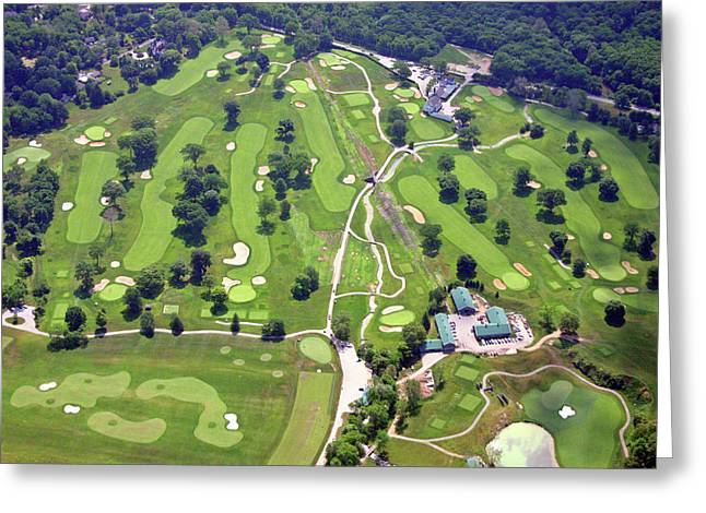 6075 W Valley Green Rd Greeting Cards - Philadelphia Cricket Club Wissahickon Golf Course Front Nine Holes Greeting Card by Duncan Pearson