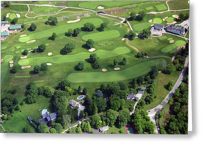 6075 W Valley Green Rd Greeting Cards - Philadelphia Cricket Club Wissahickon Golf Course Holes 1 2 11 and 18 Greeting Card by Duncan Pearson