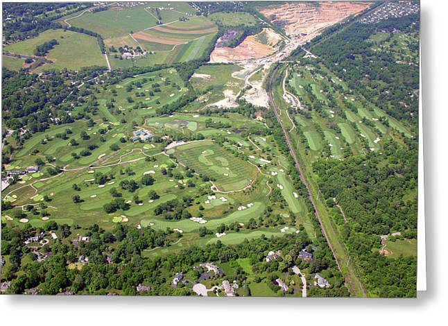 6075 W Valley Green Rd Greeting Cards - Philadelphia Cricket Club Wissahickon Militia Hill Golf Courses Greeting Card by Duncan Pearson