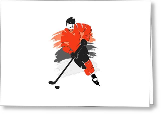 Flyers Hockey Greeting Cards - Philadelphia Flyers Player Shirt Greeting Card by Joe Hamilton