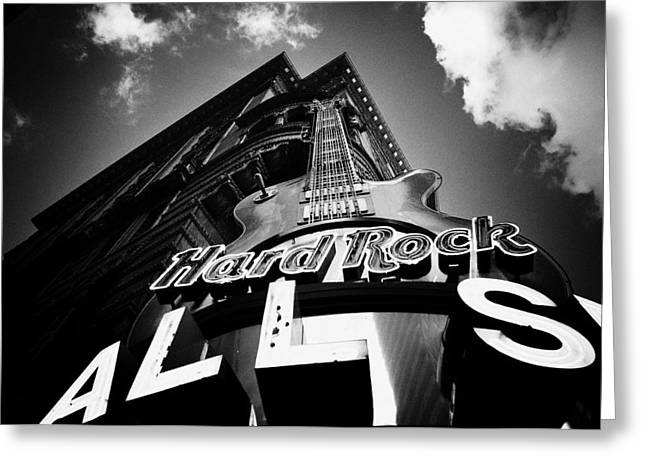 Philadelphia Digital Greeting Cards - Philadelphia Hard Rock Cafe  Greeting Card by Bill Cannon