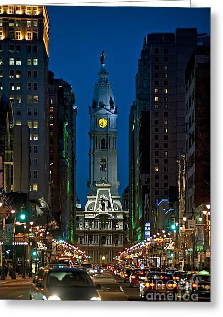 Broad Street - Philadelphia Greeting Cards - Philadelphia Greeting Card by John Greim