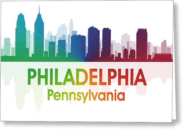 Philadelphia Pa Greeting Card by Angelina Vick