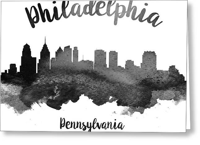 Philadelphia Pennsylvania Skyline 18 Greeting Card by Aged Pixel