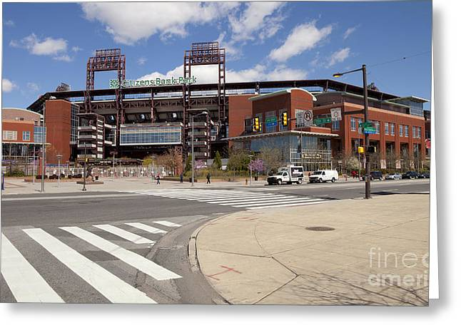 Citizens Bank Park Photographs Greeting Cards - Philadelphia Phillies Citizens Bank Park Greeting Card by Anthony Totah