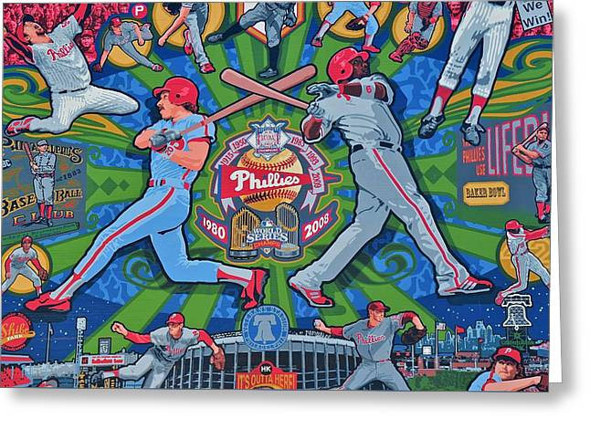 Philadelphia Phillies Greeting Card by Frozen in Time Fine Art Photography