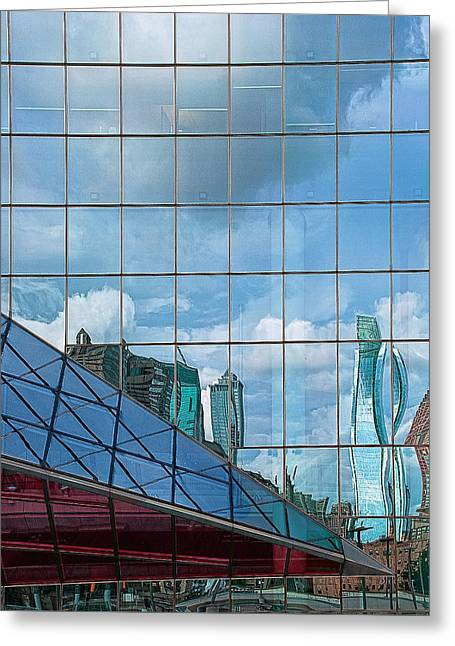Philadelphia Framed Prints Greeting Cards - Philadelphia Reflections Greeting Card by Rick Mosher