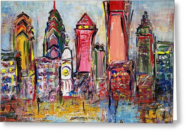 Philadelphia Skyline 232 1 Greeting Card by Mawra Tahreem
