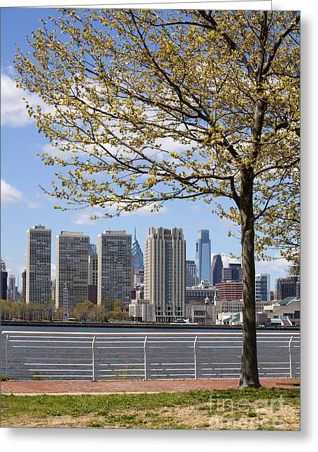 Downtown Franklin Greeting Cards - Philadelphia skyline Greeting Card by Anthony Totah