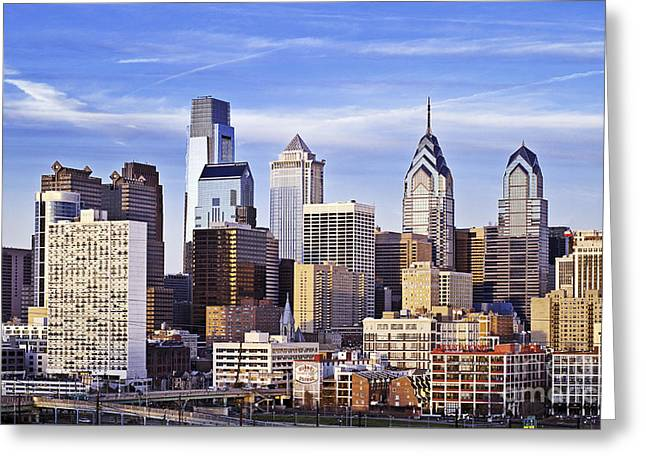 Philadelphia Skyline Greeting Card by John Greim