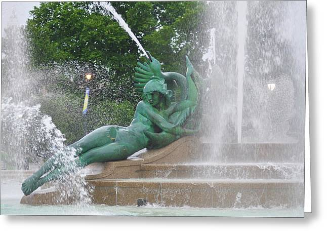 Philadelphia - Swann Memorial Fountain - Logan Square Greeting Card by Bill Cannon