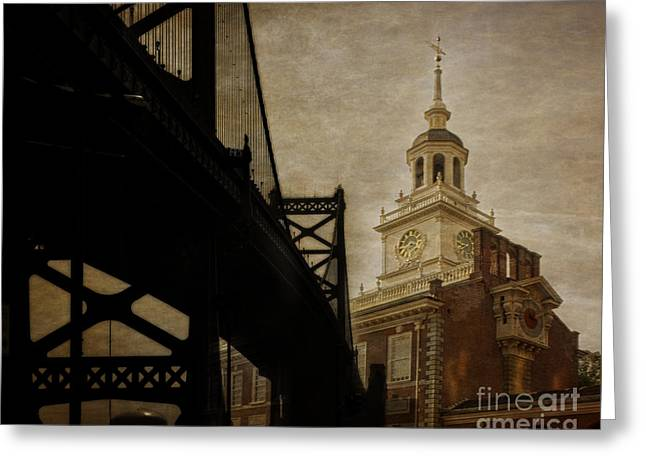 American Independance Photographs Greeting Cards - Philadelphia Greeting Card by Tom Gari Gallery-Three-Photography