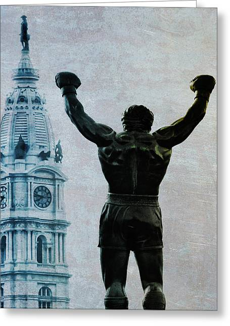 Philadelphias Champion - Rocky Balboa Greeting Card by Bill Cannon