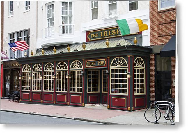 Philadelphia's Famous Irish Pub Greeting Card by Bill Cannon