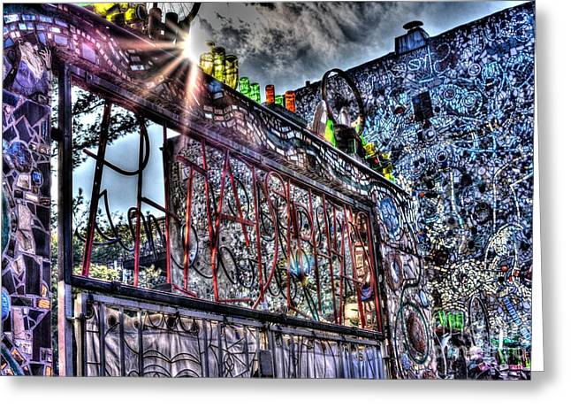 Williams Dam Greeting Cards - Philadelphias Magic Gardens Greeting Card by Mark Ayzenberg