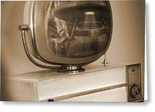 Philco Television  Greeting Card by Mike McGlothlen