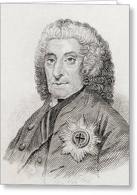 4th Drawings Greeting Cards - Philip Dormer Stanhope, 4th Earl Of Greeting Card by Ken Welsh
