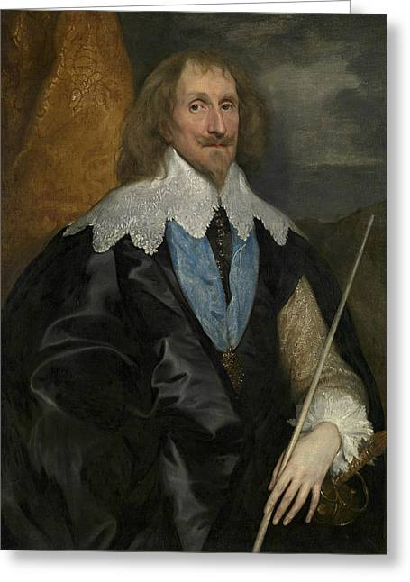 Philip Herbert, 4th Earl Of Pembroke Greeting Card by Anthony van Dyck
