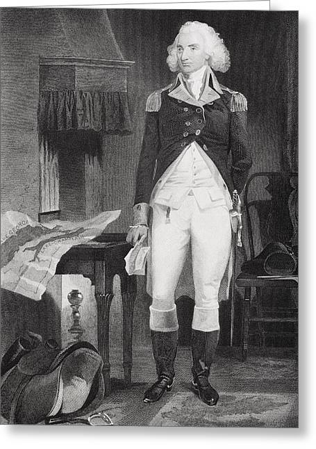 Alonzo Greeting Cards - Philip Schuyler 1733-1804. American Greeting Card by Ken Welsh