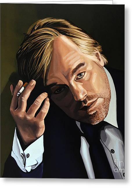 Philip Seymour Hoffman Greeting Card by Paul Meijering