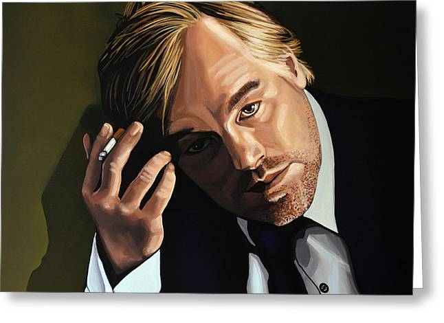 March Paintings Greeting Cards - Philip Seymour Hoffman Greeting Card by Paul Meijering