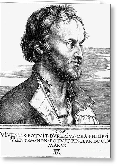 Reformer Greeting Cards - Philipp Melanchthon Greeting Card by Granger