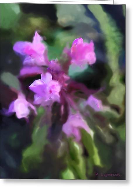 Orchids Digital Art Greeting Cards - Philippine Orchid Abstact Greeting Card by Kerri Ligatich