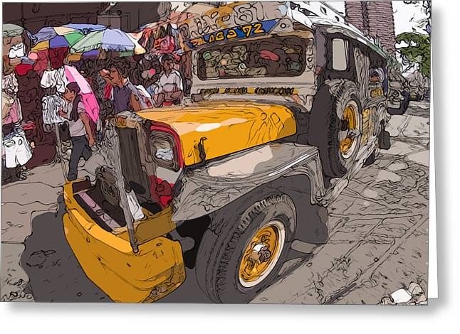 Philippines Greeting Cards - Philippines 1261 Jeepney Greeting Card by Rolf Bertram