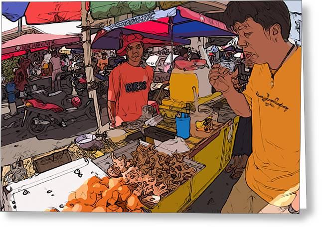 Rolf Bertram Greeting Cards - Philippines 1299 Street Food Greeting Card by Rolf Bertram