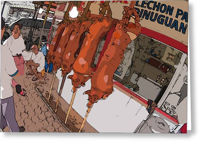 Philippines 4057 Lechon Greeting Card by Rolf Bertram