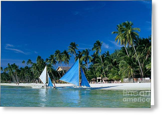 Philippines, Boracay Isla Greeting Card by Gloria & Richard Maschmeyer - Printscapes