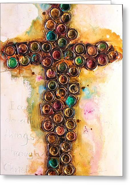Serenity Prayer Mixed Media Greeting Cards - Phillipeans  Greeting Card by Ivan  Guaderrama