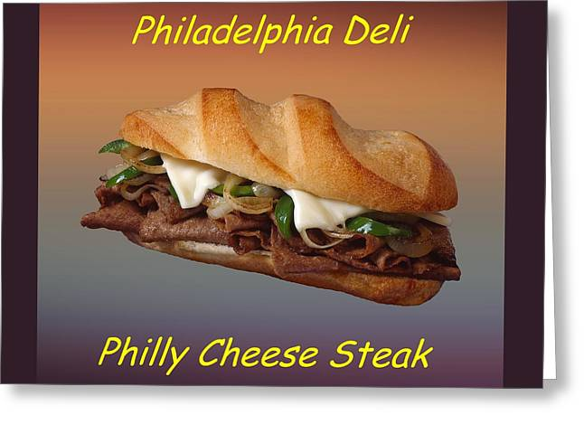 Deli Greeting Cards - Philly Cheese Steak Customized  Greeting Card by Movie Poster Prints