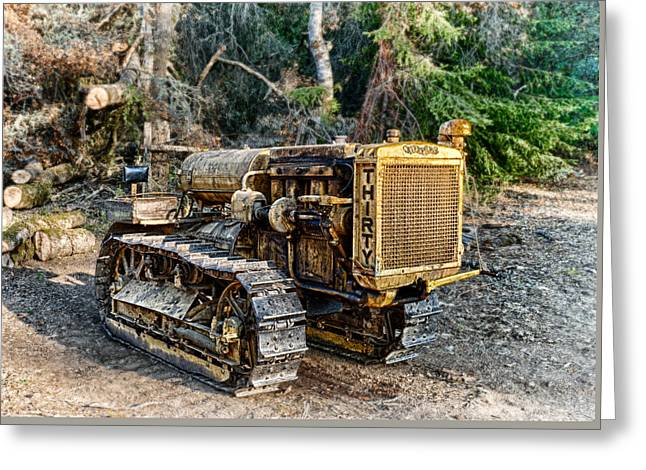Logging Tractor Greeting Cards - Philo Cat Greeting Card by Betty Depee