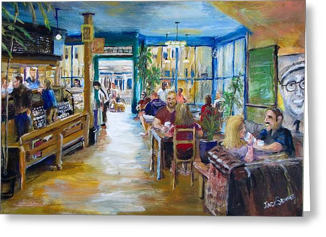 Jack Skinner Paintings Greeting Cards - Philz Coffee San Francisco Greeting Card by Jack Skinner
