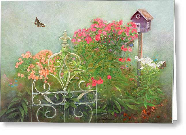 Phlox Of Late Summer Greeting Card by Nancy Lee Moran