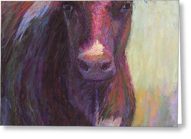 Phoebe of Merry Mead Farm Greeting Card by Susan Williamson