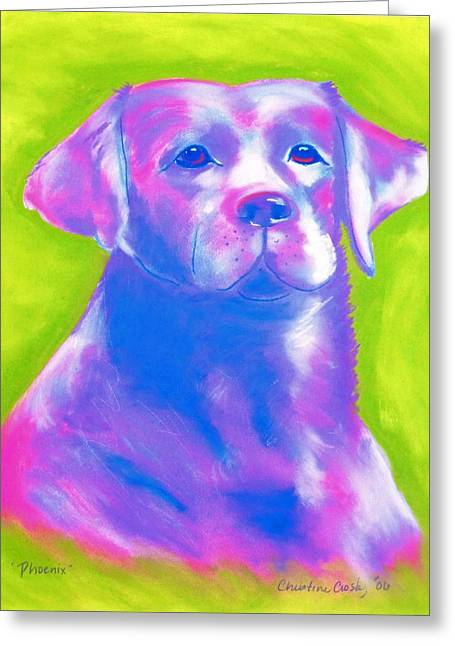 Labradors Pastels Greeting Cards - Phoenix Greeting Card by Christine Crosby