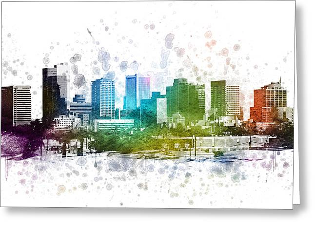 Phoenix Arizona In Color 02 Greeting Card by Aged Pixel